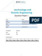 20 Biotechnology and Genetic Engineering Topic Booklet 1 CIE IGCSE Biology