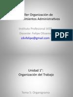 Taller Organizacion de Procedimientos Administrativos_5 Organigrama.ppt