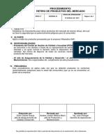 P38 Retiro Productos Mercado 2014 Keyword Principal