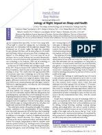 The Use of Technology at Night Impact on Sleep and Health