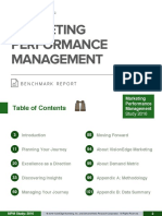 Marketing Performance Management Benchmark Report
