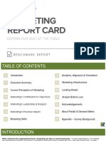 Marketing Report Card Benchmark Report