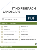 Marketing Research Benchmark Report