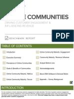 Online Communities Benchmark Report