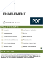 Sales Enablement Benchmark Report