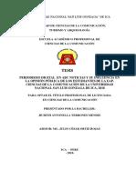 Periodismo Digital en ABC Noticias y Su Influencia en La Opinión Pública de Los Estudiantes de La Eap. Ciencias de La Comunicación de La Universidad Nacional San Luis Gonzaga de Ica, 2018