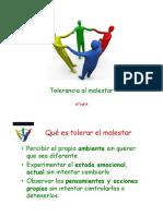 Tolerancia Al Malestar 2013
