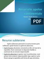 Resursele apelor continentale