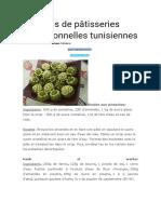 Recettes de pâtisseries traditionnelles tunisiennes.doc