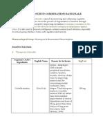 Cognium Syrup Combination Rationale 2013