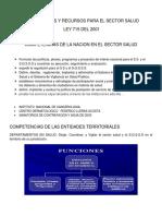 Competencias y Recursos Para El Sector Salud Ley 715 Del 2001