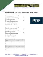 Hindi Song - Maa (Taare Zameen Par) Guitar Chords