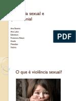 Violência Sexual e Patrimonial