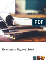 2018 Examiners Report