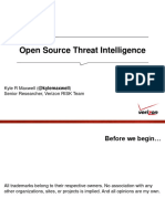 Open Source Threat Intelligence Kyle Maxwell