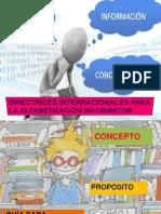Directrices Internacionales Para La Alfabetización Informativa