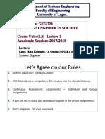 GEG228 - Lecture 1 & 2 - Engr. K.O. Orolu