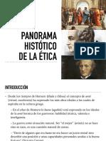 PANORAMA HISTÓRICO DE LA ÉTICA
