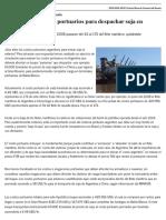Los Costos Portuarios Para Despachar Soja en Argentina
