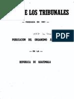 Gaceta de tribunales 1957 primer semana Organismo Judicial