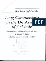 Averroes - Long Commentary on the de Anima of Aristotle Trans. Taylor