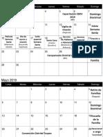 Calendario Abril-Junio 2019