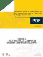 Capacitacion Mayo 2019_pirr_módulo 4 Desarrollar La Gdr