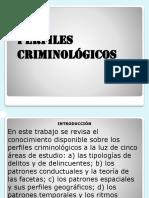 PERFILES CRIMINOLOGICOS