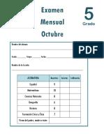 Octubre - 5to Grado - Examen Mensual (1)