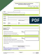 FI-DGESE-003 Formulario de Solicitud de Cambio de Correo Rev  C.xls