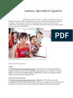 UN Prgrams, Specialized Agencies, Funds