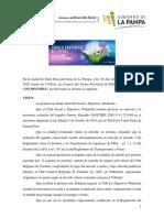 Torneo Provincial 2019 - Protesta Puntos Winifreda