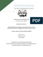DETERMINACIÓN DE HUMEDAD O CANTIDAD DE AGUA Y  PESO ESPECÍFICO RELATIVO O DENSIDAD DE UN SUELO. PRÁCTICA N-º 2