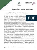 10.Pliego de Especificaciones Tecnicas Particulares