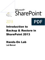 Introduction to Backup and Restore in SharePoint 2013