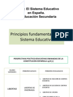 Tema 2. El Sistema Educativo y la Enseñanza Secundaria