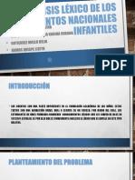 Análisis Léxico de Los Cuentos Nacionales Infantiles