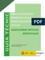 Guía técnica para la evaluación y prevención de los riesgos relacionados con las radiaciones ópticas artificiales.pdf
