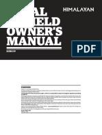 Royal Enfield Himalayan Owners Manual