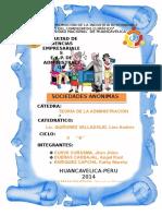 Monografia Sociedades Anónimas_Teoría de La Administración