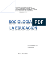 Ensayo Sociologia de la educacion en la actualidad