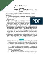 Taller Sobre La Dimensión Social de La Ética.