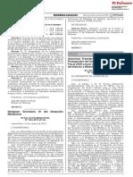 Autorizan Transferencia de Partidas en el Presupuesto del Sector Público para el Año Fiscal 2019 a favor de los Pliegos Ministerio del Interior y Ministerio de Defensa.pdf