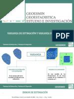 Varianza de Estimación y Dispersión Geoesmin