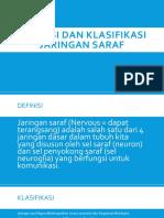 Definisi Dan Klasifikasi Jaringan Saraf