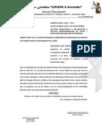Justifico Inasistencia a Declaracion y Solicito Reprogramacion de Fecha y Hora