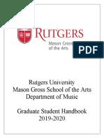 2019-2020 Graduate Handbook