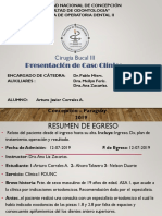 Cirugia Oral Caso Clinico Arturo