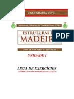 Listas De exercícios unidade 1 - estruturas de madeira