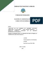 MAESTRÍA EN ADMINISTRACIÓN Y DIRECCIÓN DE EMPRESAS
